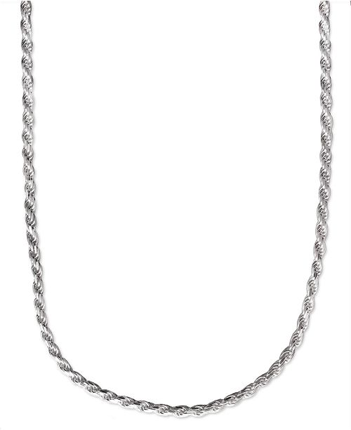 Macy S Men Sterling Silver Necklace