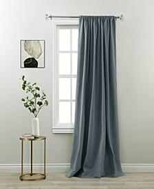 "Madero Room Darking Rod Pocket Curtain Panel By Nefeli, 84"" x 52"""