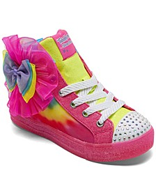 Little Girls Shuffle Bright Tie-Dye Casual Sneakers from Finish Line