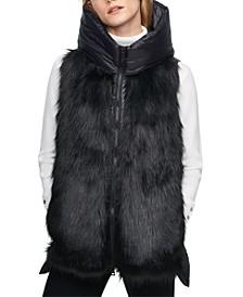 Hooded Faux Fur Puffer Vest