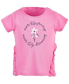 Little Girls Ruffled Graphic Cotton T-Shirt, Created for Macy's