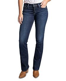 Suki Mid-Rise Slim Bootcut Jeans