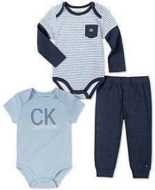 Baby Boys 3-Pc. Bodysuits & Pants Set