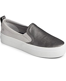 Women's Crest Vibe Platform Slip On Leather Sneaker