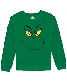 Juniors' Grinch Crewneck Sweatshirt