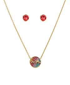 """Horse Carriage Swarovski® Crystal Necklace and Stud Earrings Set, 16"""" + 2"""" extender"""