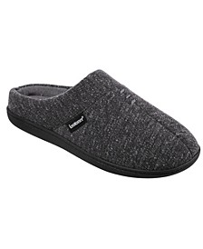Men's Memory Foam Preston Heather Knit Hoodback Slippers