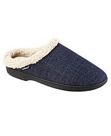 Men's Memory Foam Glen Plaid Tanner Hoodback Slippers