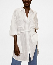 Textured Oversize Shirt
