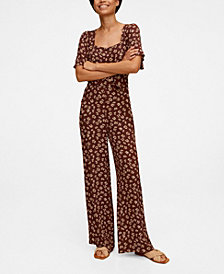 MANGO Floral Long Jumpsuit