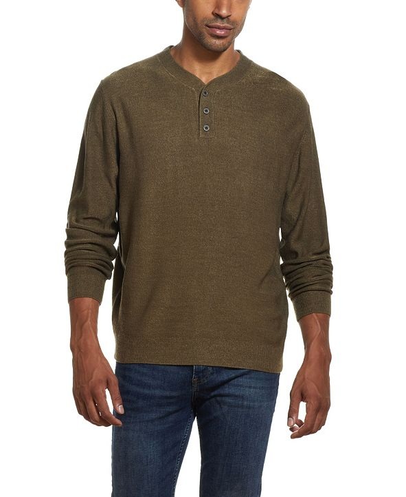 Weatherproof Vintage Men's Soft Touch Henley Sweater