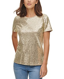 Sequin-Detail Top