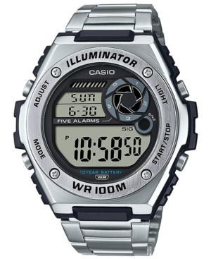 Men's Digital Stainless Steel Bracelet Watch 50.7mm