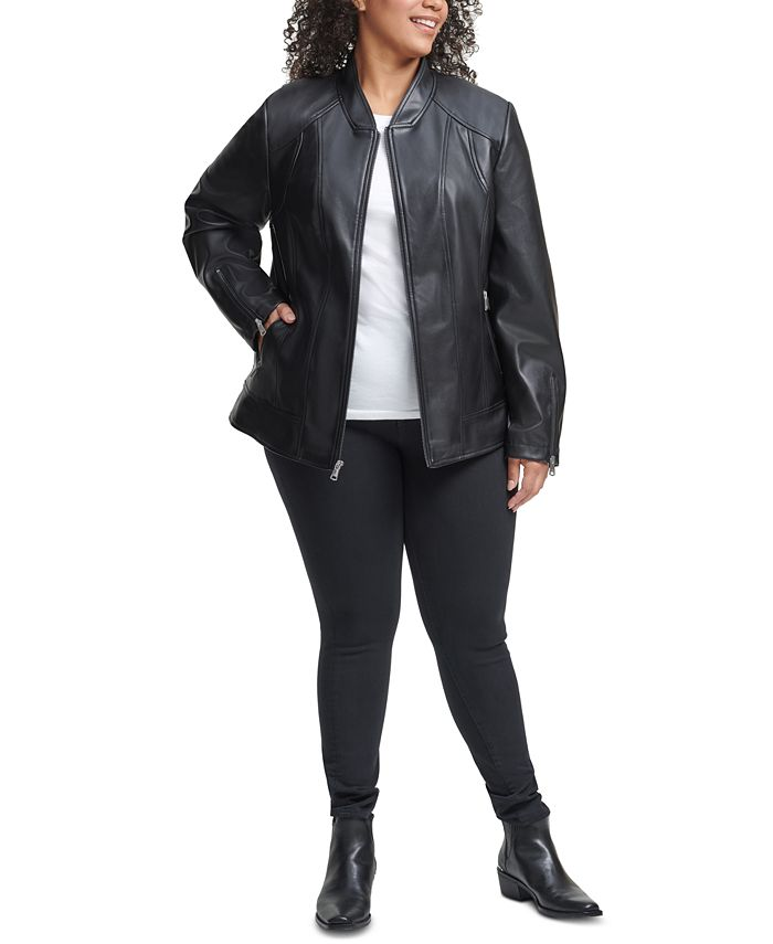 Kenneth Cole - Plus Size Faux-Leather Jacket