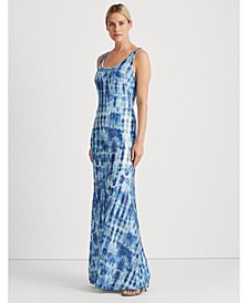 Sequined Tie-Dye Maxidress