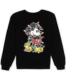 Trendy Plus Size Mickey Holiday Lights Graphic Sweatshirt