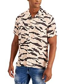 INC Men's Hunter Short Sleeve Shirt, Created for Macy's