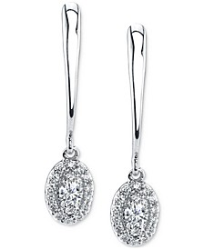 Diamond Drop Earrings (1/4 ct. t.w.) in 14k White Gold