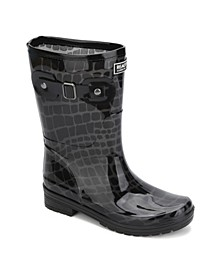 Women's Rain Buckle Boots