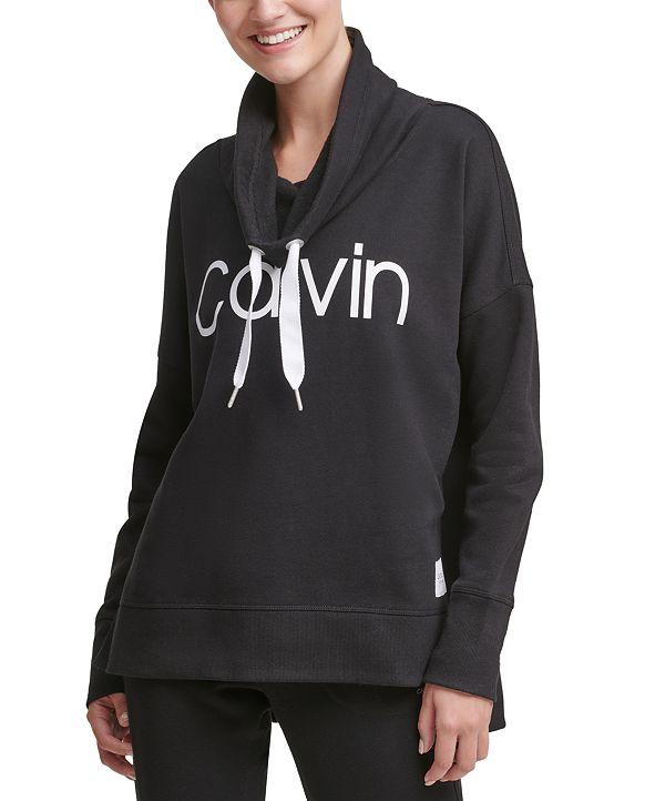 Calvin Klein Funnel-Neck Logo Sweatshirt