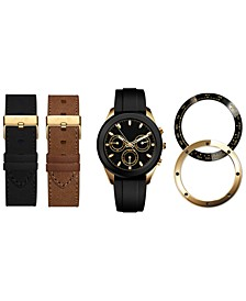 Men's Interchangeable Strap & Bezel Watch 47mm Gift Set