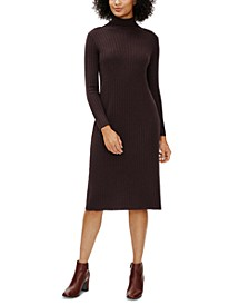 Straight Scrunch-Neck Dress