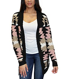 Juniors' Patterned Cardigan