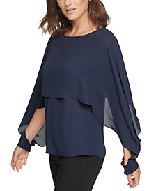 Cape-Overlay Top