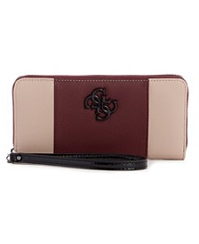 Noelle Large Zip Around Wallet Wristlet