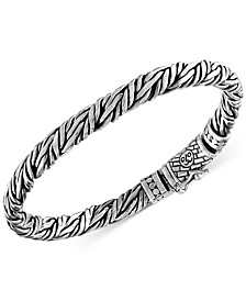 Rope-Look Bangle Bracelet in Sterling Silver, Created for Macy's