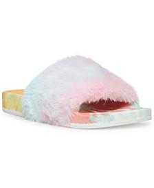 Fancy-F Faux-Fur Slides