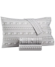 CLOSEOUT! Essentials 200-Thread Count Holiday 4-Pc. Full Sheet Set, Created for Macy's