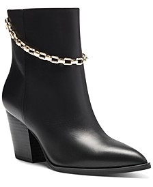 I.N.C. Women's Saphira Block-Heel Booties, Created for Macy's
