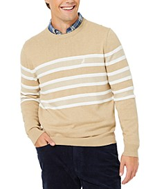 Men's Textured Stripe Crewneck Sweater