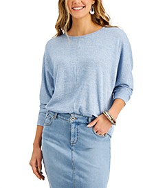 Heathered Dolman-Sleeve Top, Created for Macy's