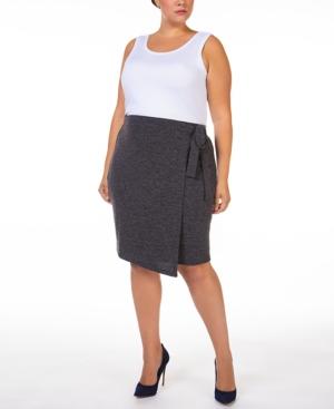 Plus Size Wrap Knit Skirt