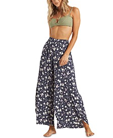 Juniors' Wandering Soul Wide-Leg Soft Pants