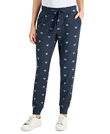 Petite Heart-Print Jogger Pants, Created for Macy's
