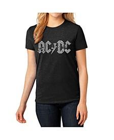 Women's AC/DC Premium Blend Word Art T-Shirt