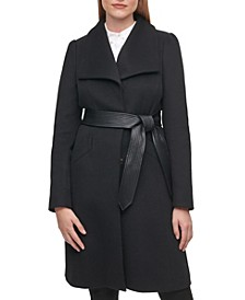 Women's Single-Breasted Belted Coat