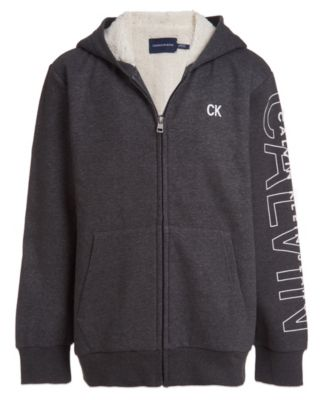 Big Boys Sherpa Lined Full Zip Sweatshirt
