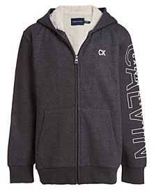 Big Boys Sherpa Lined Full Zip Sweatshirt