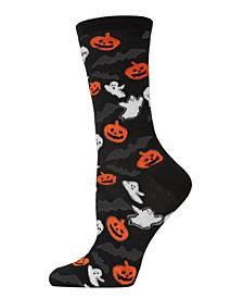 Women's Haunted Party Halloween Crew Socks