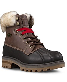 Women's Mallard Fur Classic Duck Toe Memory Foam Chukka Fashion Boot