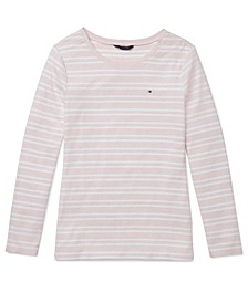 Striped Women's Crewneck Top
