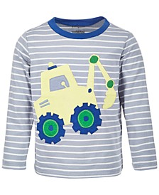 Baby Boys Digger Long-Sleeve Cotton T-Shirt, Created for Macy's