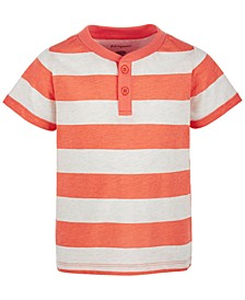 Baby Boys Rugby-Stripe Henley T-Shirt, Created for Macy's