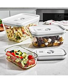 Fresh & Save Assorted 3-Pc. Glass Rectangular Vacuum Box Set