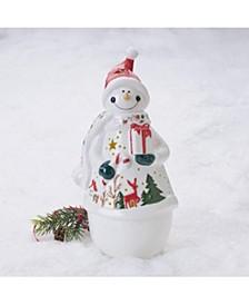Winterberry Stoneware LED Light lrg Snowman