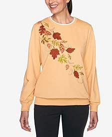 Women's Plus Size Classics Fall Leaves Top